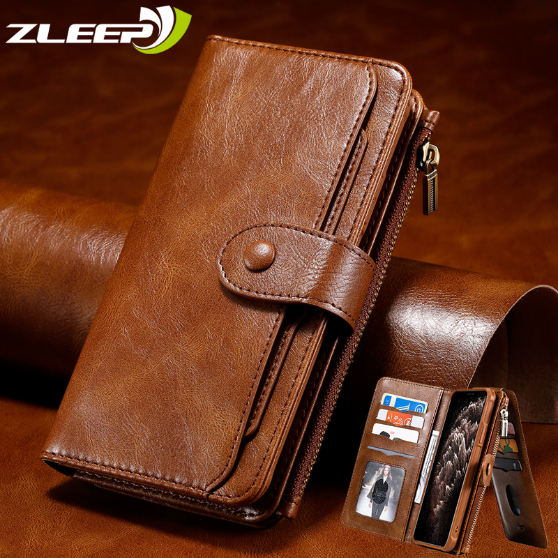 Luxury Leather Flip Case For iPhone 11 Pro XS Max XR X 7 8 6 6s Plus SE 2020 Detached