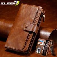 Luxus Leder Flip Magnetische Fall Für iPhone 11 Pro XS Max XR X 7 8 6 6s Plus Getrennt brieftasche Coque Karte Halter Telefon Abdeckung Etui