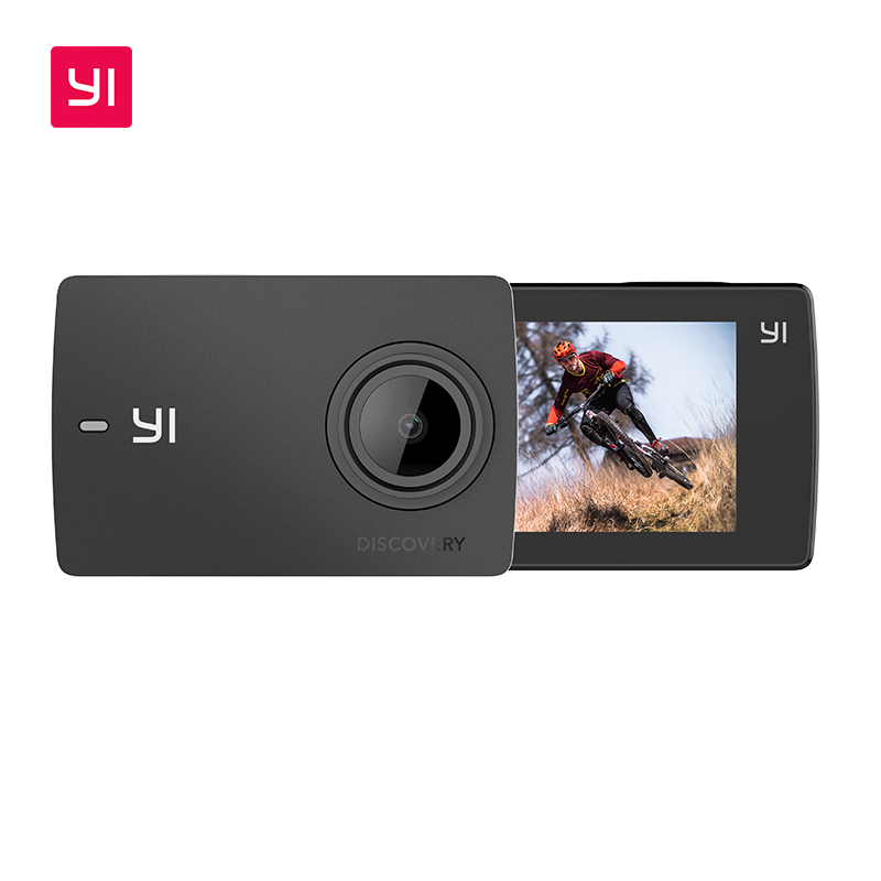 YI Descoberta Esportes Action Camera 20fps 4K 8MP 16MP com 2.0 Touchscreen Embutido Wi-Fi Cam 150 Graus Ultra Wide ângulo
