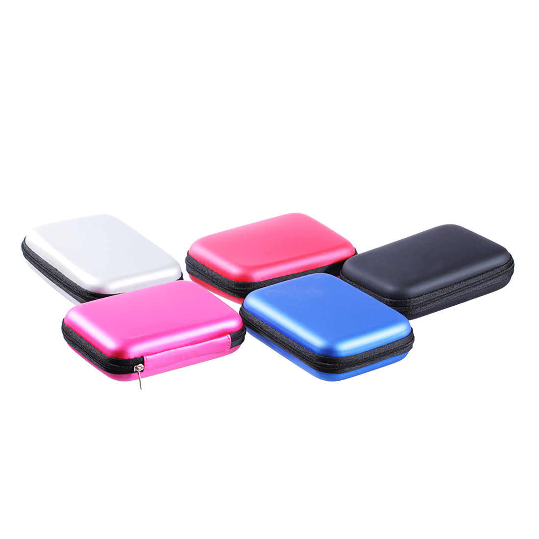 2,5 pulgadas disco duro externo funda protectora HDD SSD bolsa Portátil Bolsa USB Cable banco de alimentación organizador caja de almacenamiento