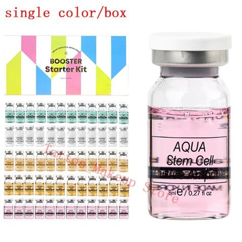 12 pcs caixa derma branco impulsionador bb creme brilho mix conjunto starter kit corretivo bb