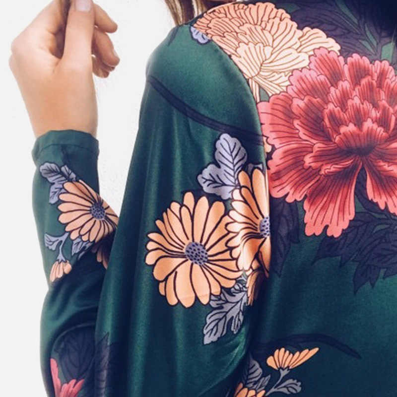 Mono de mujer con cuello en V profundo y estampado Floral, Blazers + bragas ropa interior, monos femeninos, novedad de 2020, mamelucos de señora Vintage de primavera