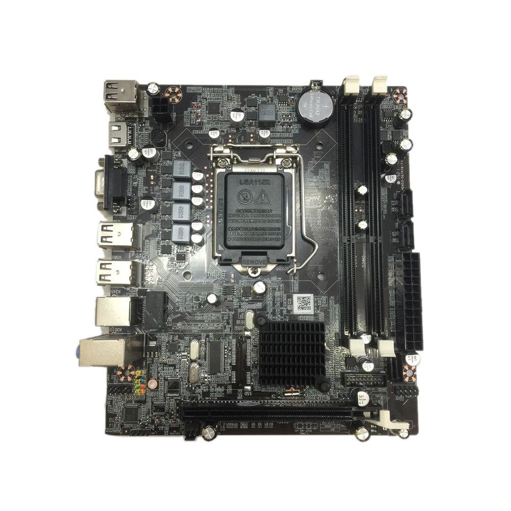 H55 accessoires Double USB PCI Express carte mère mère Stable LGA1156 ordinateur de bureau système pratique Interface CPU
