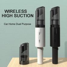 Aspirador de pó sem fio do carro, aspirador portátil de mão do carro, 120w de alta potência casa dupla-uso forte sucção mini limpo
