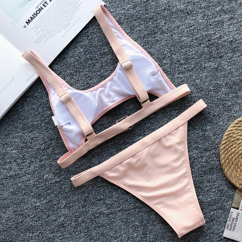Hf8c4911e12cb4b06982b16411f9e2dab3 Neon Green High Waist bikini 2019 Adjust Strap Swimsuit women Thong Swimwear Female Two pieces bikini set Brazilian Bathing Suit