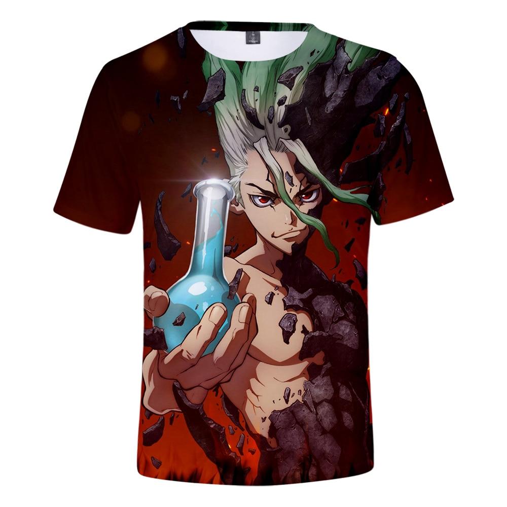 Hipster Trends Print Anime Dr.stone 3D T-shirt Men Women Boys/Girls Summer Harajuku Japanese Style 3D Dr.stone Manga T shirt