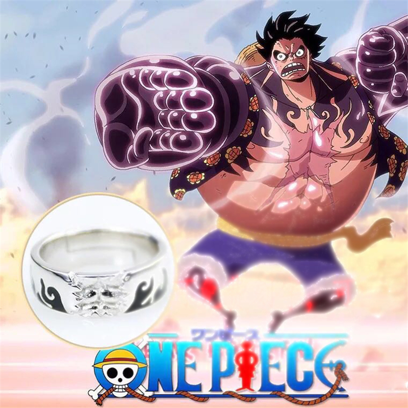 Hot Anime One Piece Portgas·D· Ace Ring 925 Sliver Cos Gift Adjustable