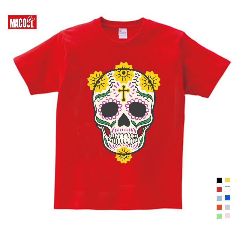Детская одежда 2020 дети милые комплекты с принтом «череп» футболка