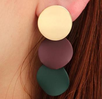 Earring For Women Girls Dangler Eardrop Summer Bohemian Fashion Cute Geometric Round Gift Party Colorful Jewelry