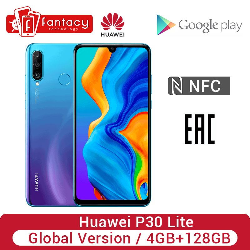 Global Version Huawei P30 Lite 4GB 128GB Smartphone 24MP Triple Cameras 32MP Front Camera 6.15'' Full Screen 18W QC NFC Version