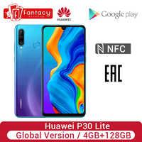 Globale Versione Huawei P30 Lite 4 Gb 128 Gb Smartphone 24MP Triple Telecamere 32MP Anteriore Della Macchina Fotografica 6.15 ''Schermo Intero 18W di Controllo di Versione Nfc