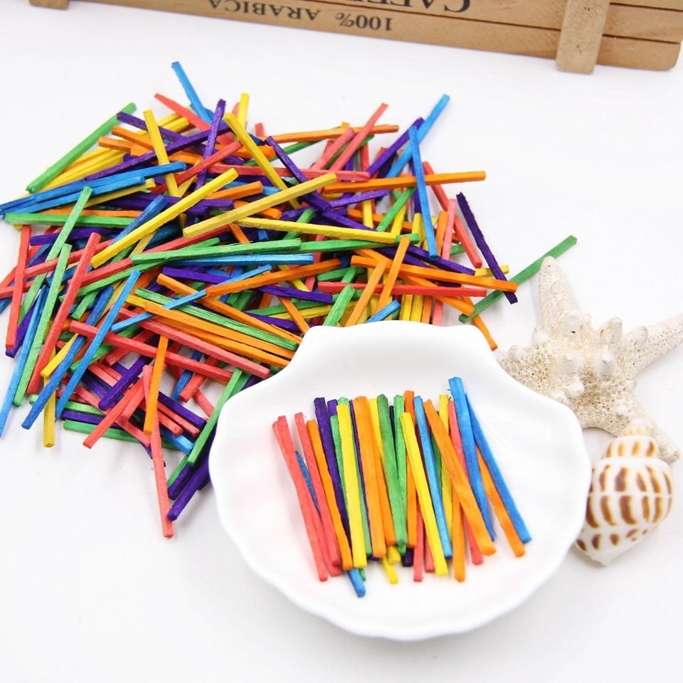 Palitos y Palillos MADERA manualidades DIY sostenible comprar sin plastico mix multicolores