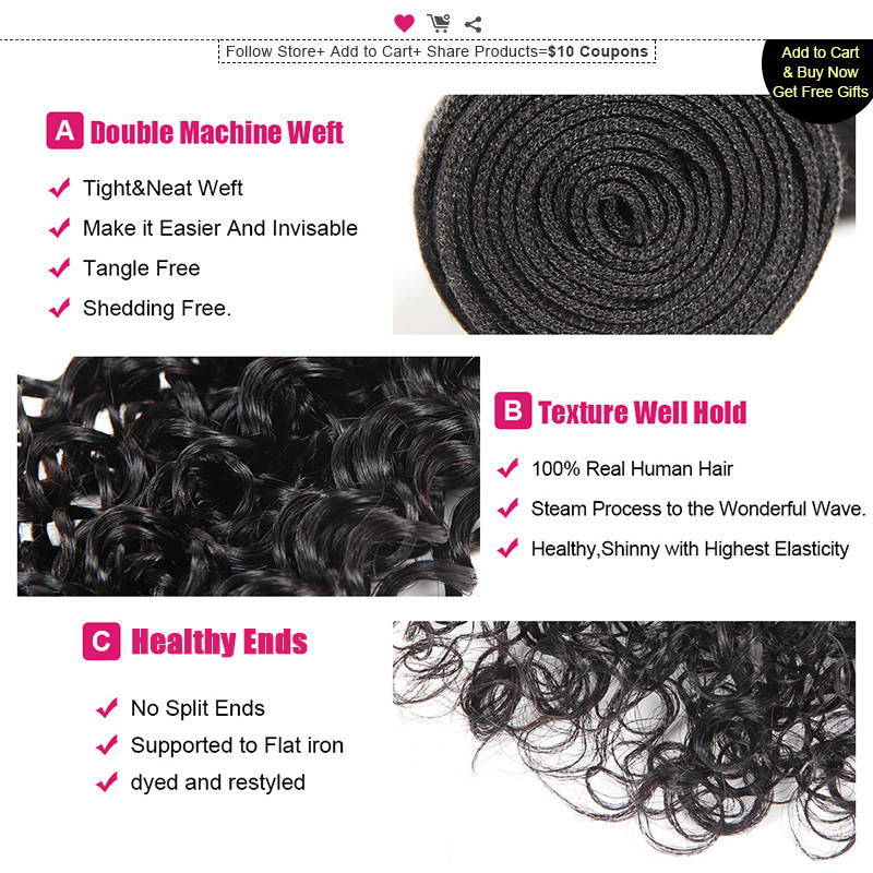 Image 4 - Ishow Hair Malaysian Curly Hair Weave Bundles 100% Human Hair Bundles Natural Color Non Remy Hair Extensions 1/3/4 Bundles Deals-in Hair Weaves from Hair Extensions & Wigs