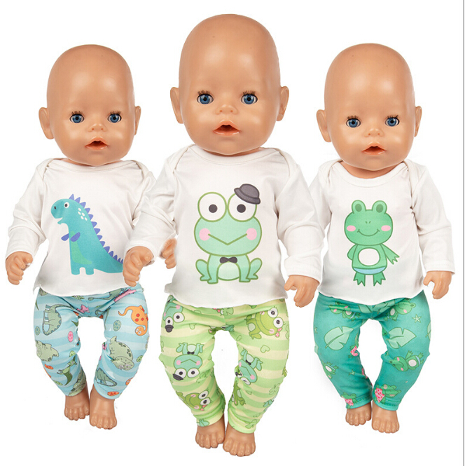 Frog Set Doll Clothes Fit 17 Inch 43cm Doll Clothes Born Baby Suit For Baby Birthday Festival Gift