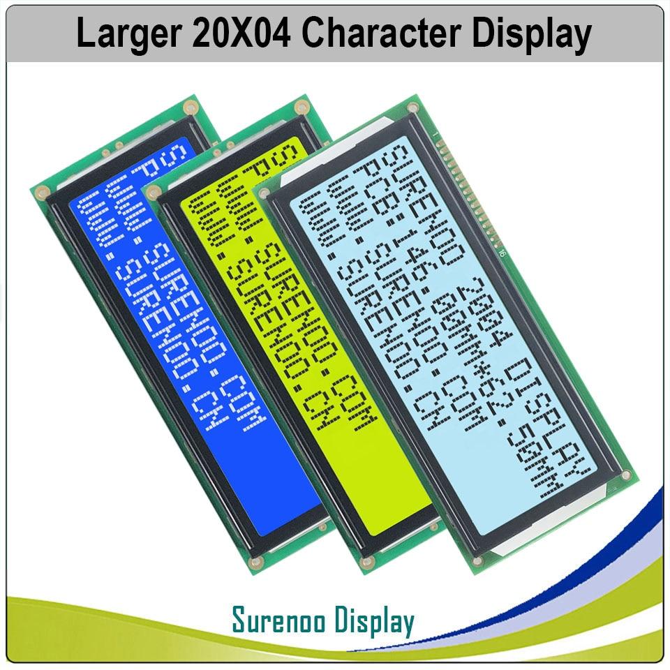 Большой 204 20X4 2004 персонаж ЖК-модуль дисплей экран LCM синий желтый зеленый с светодиодный подсветкой