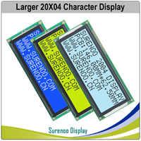 Maior 204 20x4 2004 caracteres lcd módulo display tela lcm azul amarelo verde com luz de fundo led