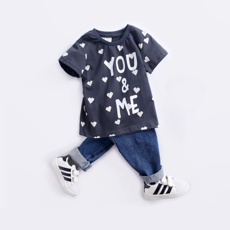 2019 Summer Wear New Style Short Sleeve T-shirt Male Baby 2-7-Year-Old Childrenswear Cartoon Pure Cotton Children T-shirt