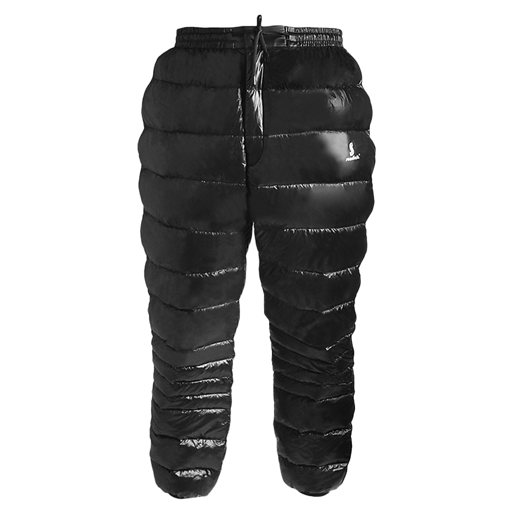White Goose Down Pants Skiing Pants Thermal Waterproof Down Trousers for Outdoor Travelling Mountaineering Camping Skiing