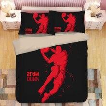 Basketball Bedding Set Duvet Covers Pillowcases Bed Linens Basketballer Sports Comforter Sets Bedclothes Linen