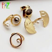 F. J4Z дизайнер палец кольцо для мужчин и женщин лицо круг Топ Кольца дамы кольца, ювелирные подарки anillos de mujeres Прямая поставка