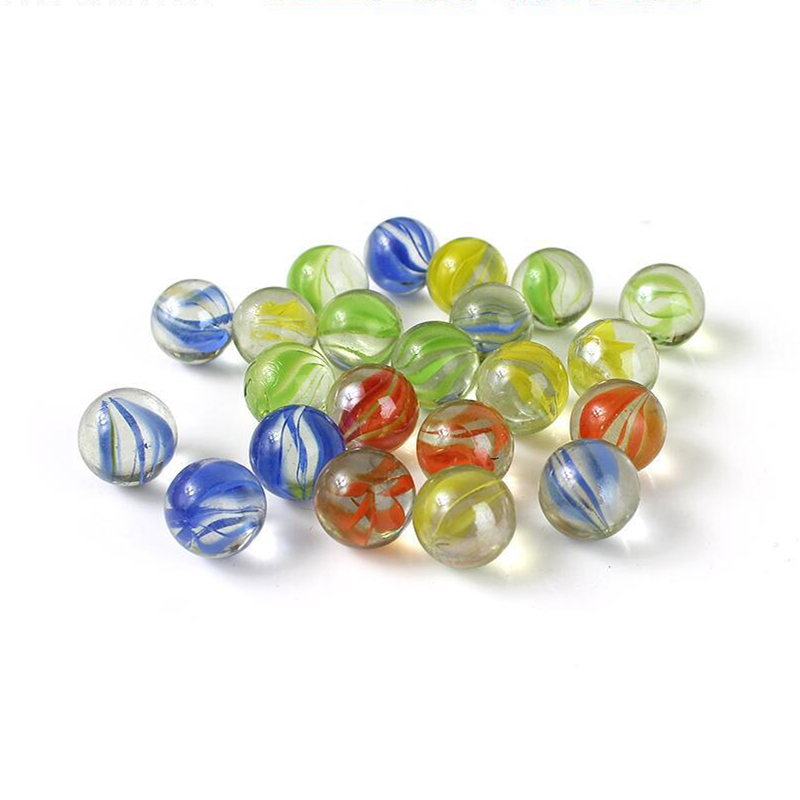 50pcs/pack Marble Balls Clear Glass Charms Pinball Machine Vase Aquarium Home Decoration Toys For Kids Children 14mm