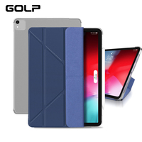 Case For iPad Pro 12.9 2018  GOLP PU Leather Front Cover+Hard PC Back Magnetic smart cover for iPad Pro 11 2018 case|Tablets & e-Books Case|   -