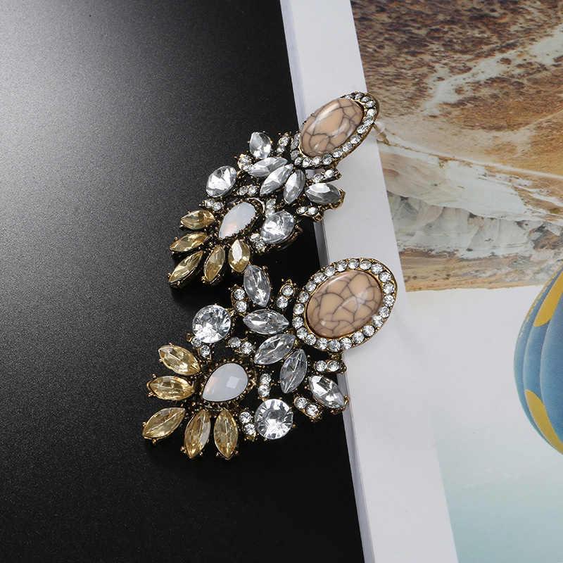 קרטר ליזה סיטונאי נשים יוקרה גדול קריסטל אשכול פרח עגיל אופנה עגילי שמירה על נשים