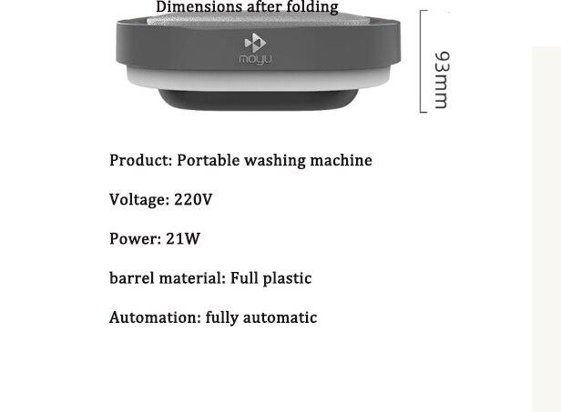 Mini Wash Machine Ultra Vibration Wave Turbine Portable Travel Portable Mini Folding Bucket Super Panties Socks Underwear