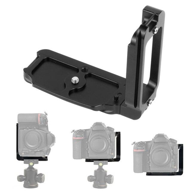 Placa de liberación rápida para cámara Nikon D850 aleación de aluminio soporte profesional Carga rápida L, piezas de repuesto para fotografía