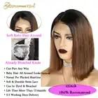 1B 30 Омбре коричневый парик из натуральных волос на кружеве для черных женщин 100% Человеческие волосы remy парик с фронтальной шнуровкой короткий боб парик 13*4 предварительно выщипанный - 4