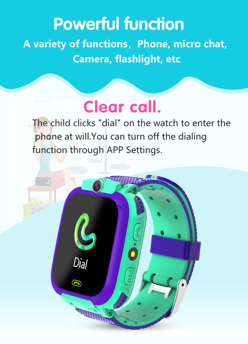 SmartWatch con GPS SOS para Niños 2020