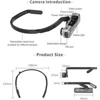 ORDRO EP7 4K Video Sport Camera Digital Camcorder UHD 30Fps Head Wearable Anti Shake IP65 Waterproof Camera with Remote