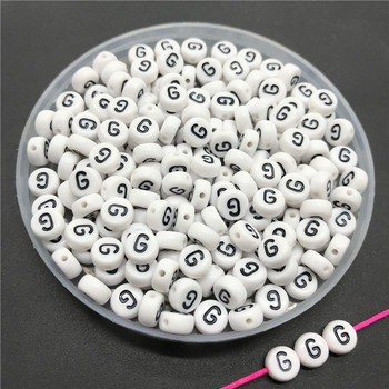 100pcs/lot 4x7mm Acrylic Spacer Beads Letter Beads Oval Alphabet Beads For Jewelry Making DIY Handmade Accessories 32