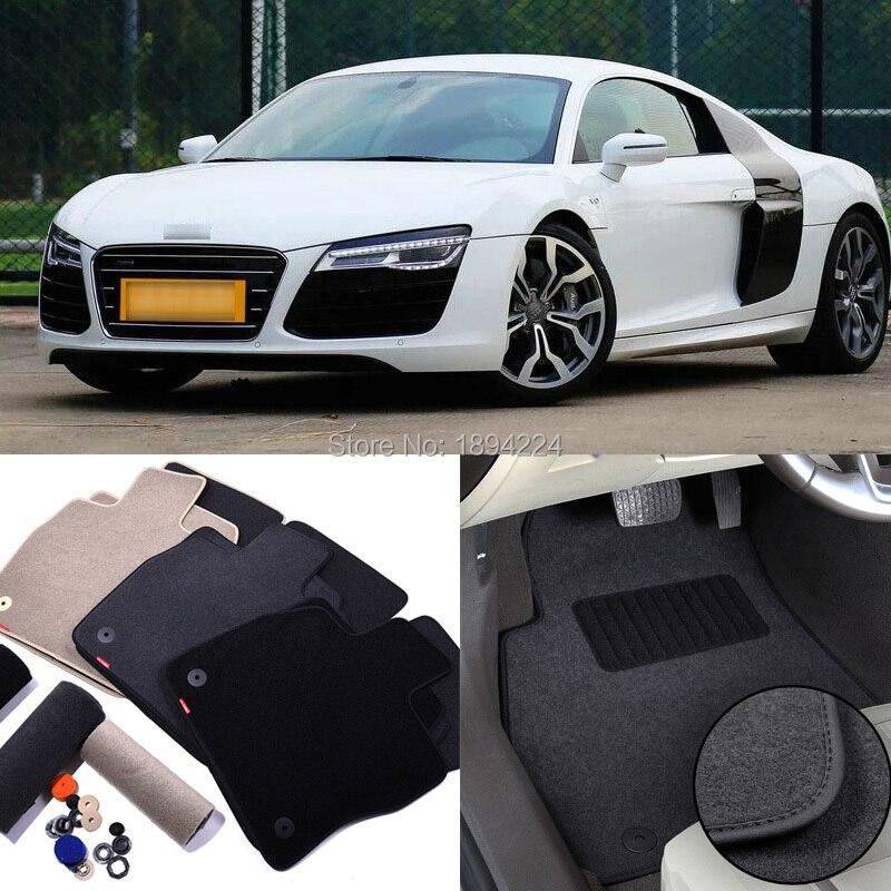 Tapis de protection de tapis de sol intérieur de voiture anti-dérapant en Nylon de tissu automatique en Nylon solide de première qualité pour Audi R8