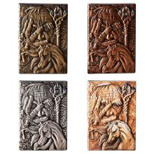 Creative Magic Embossed A5 Leather Notebook Journal Notepad Travel Diary Planner Book School Office Supplies недорого
