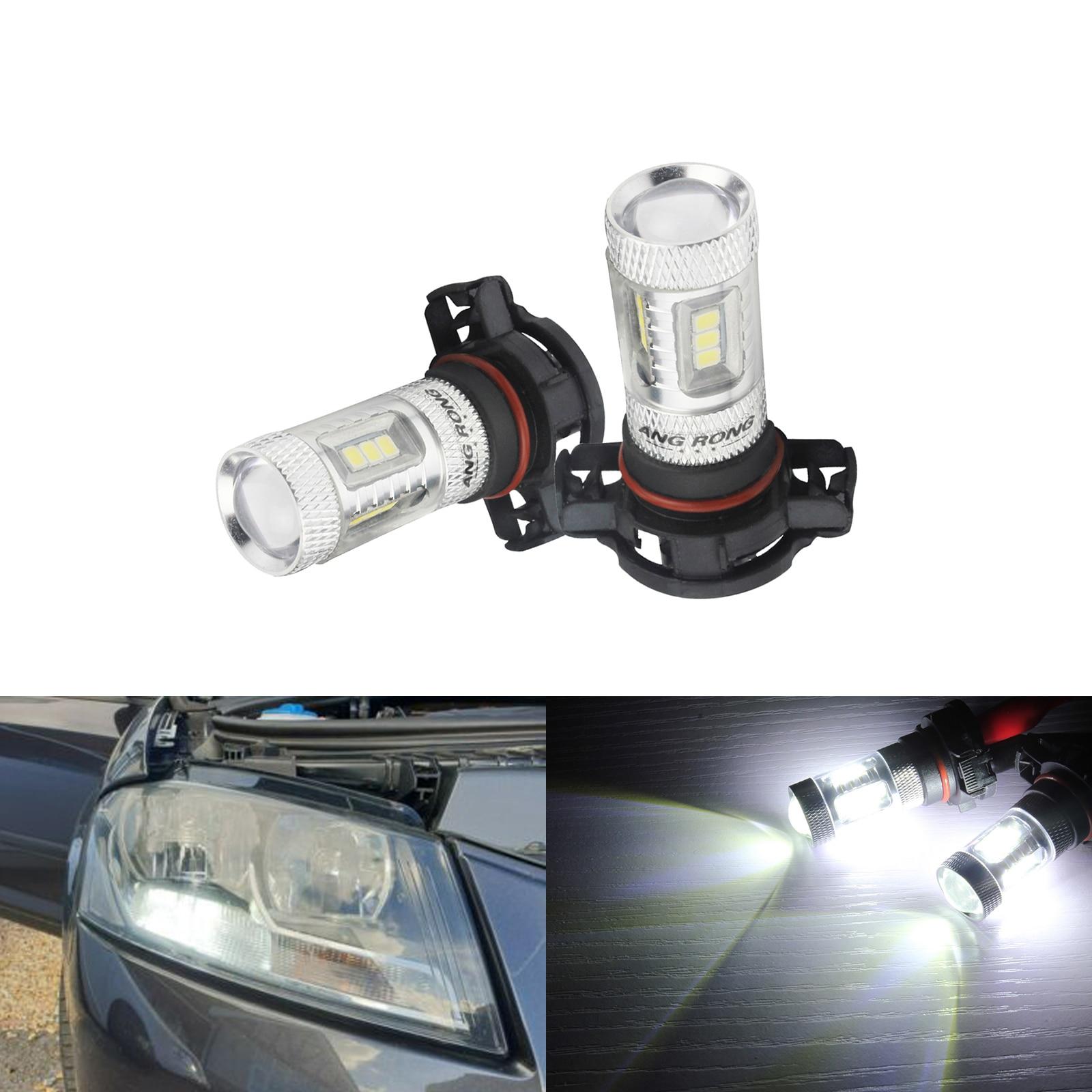 2 x High Power White LED Fog Light Bulbs DRL lamp 5202 5201 H16 PSX24W
