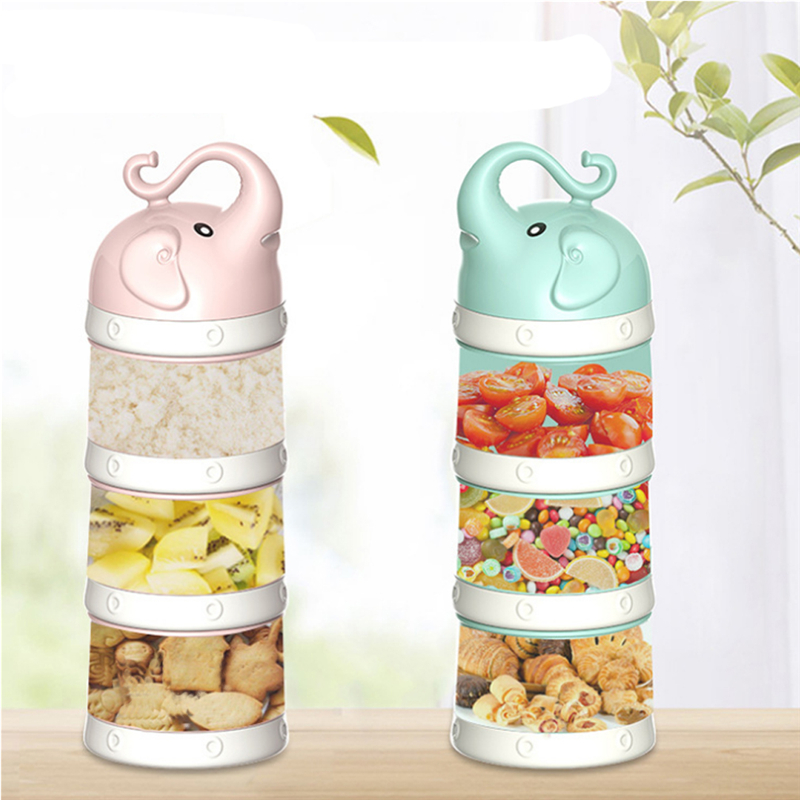 Portable Multilayer Baby Food Storage Box Feeding Milk Powder Boxes Toddle Kids Formula Milk Container Large Capacity