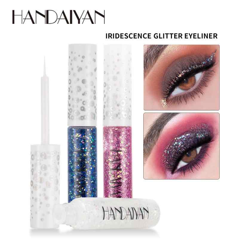 Cair Glitter Eyeshadow Pensil Mata Makeup Glitter Shimmer Eye Shadow Mutiara Liquid Eye Shadow Tahan Air Tahan Lama Kosmetik