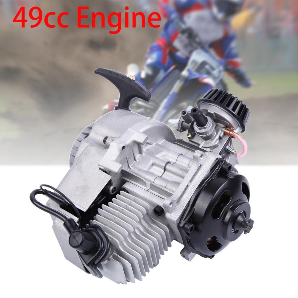 Samger 49CC 2 Stroke Pull Start Engine Motor Transmission Engine Motorcycle Mini Pocket Pit Quad Dirt Bike ATV 4 Wheel Accessory