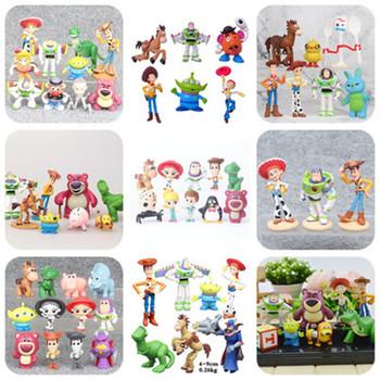 Film Toy Story 4 zabawki z kreskówek-drzewno-Buzz astral strażnik kosmosu Jessie Forky figurka kolekcjonerska lalki 3 sztuk 7 sztuk 8 sztuk 9 sztuk 12 sztuk 17 sztuk tanie i dobre opinie JIE-STAR Model Robot Wyroby gotowe Unisex Jeden rozmiar woody 3-9cm Remastered version 0-12 miesięcy 13-24 miesięcy