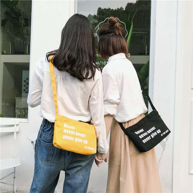 Women Fashion Travel Cool Canvas Bag Women Small Messenger Bags Shoulder Bags Pack School Bags for Teenager Small Ladies Handbag in Top Handle Bags from Luggage Bags
