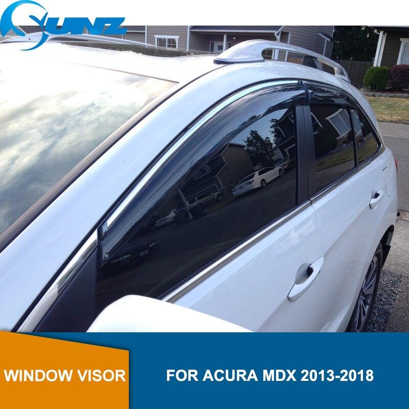 Car Window Sun Rain Visors Vent Shade Deflector For Acura MDX YD3 2014-2018