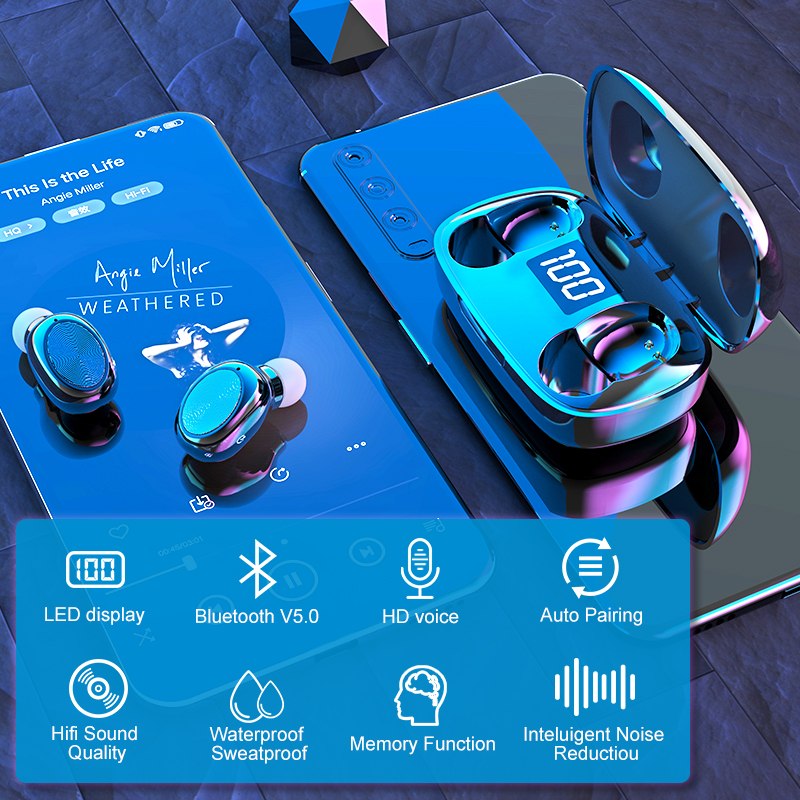 cheapest Baseus W09 TWS Wireless Earphone Bluetooth 5 0 Headphone Mini Earbuds With Charging Box Stereo Sports True Wireless Headset Sale