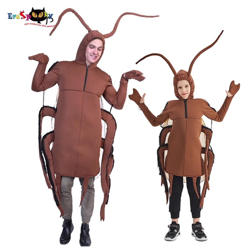 Eraspooky Забавный костюм для всей семьи, косплей, карнавал, тараканов, унисекс, комбинезон с животными, костюм на Хэллоуин для детей