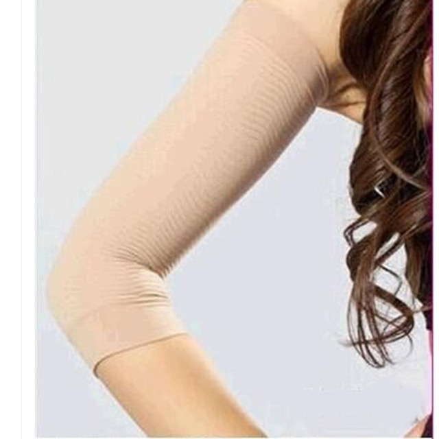 Women Elastic Compression Arm shaper Sleeves Slimming Calories mangas para brazo Weight Loss Elbow Massager Arm Wraps arm warmer