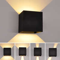 Artpad 6w Up and Down Wall-lamp Led, Imitation wood grain Bedside Decoration Sconces IP54 Adjustable Lighting Wall Lamp Fixture