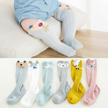 1 Pair Unisex Lovely Cute Cartoon Animal Kids Baby Socks Knee Girl Boy Baby Toddler Socks Animal Infant Soft Cotton Socks 0-3 Y unisex baby girls long socks infant toddler knee high socks for baby boy girl white leg warmer cotton warm clothing accessories