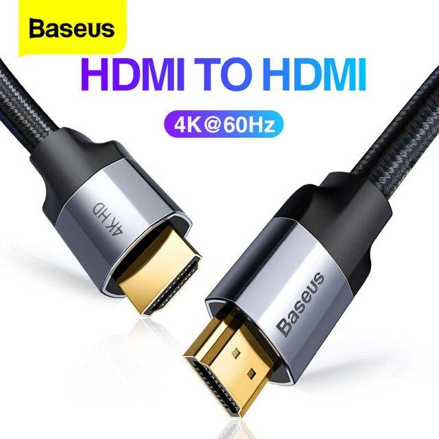Baseus HDMI Kabel 4K 60HZ HDMI zu HDMI 2,0 erweiterung Splitter Kabel für TV Schalter Projektor Laptop Büro video Kabel HDMI