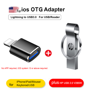 Adaptateur de caméra HP Lightning vers USB iphone V285W 16GB 32GB 64GB pour iphone 7 8 6 6s Plus convertisseur 11Pro/iPad/souris/Keyborad