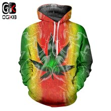 Ogkb популярный пуловер с 3d принтом «сорняки» мужские и женские